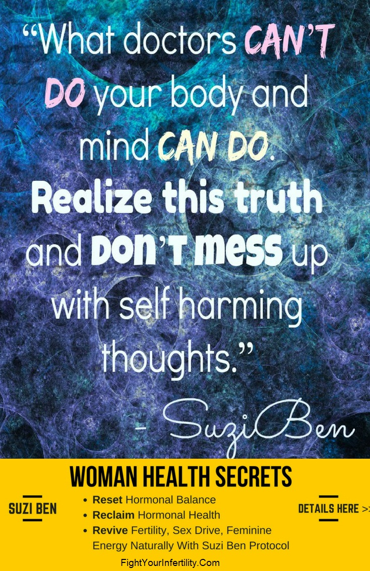 What doctors can't do your body and mind can do. Realize this truth and don't mess up with self harming thoughts.